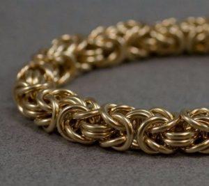 14K Gold Byzantine Bracelets For Men