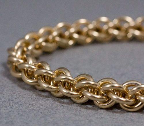 14K Gold Filled Bracelet For Mens