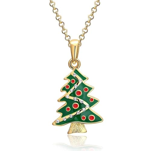 18K Gold Plated Christmas Tree Necklace