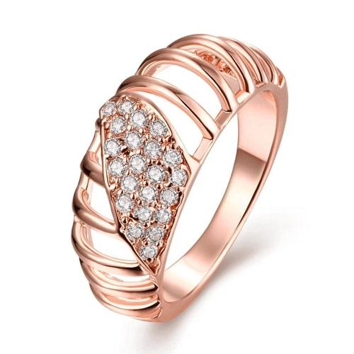 18K Rose Gold Plated Queen Eleanor Swarovski Ring