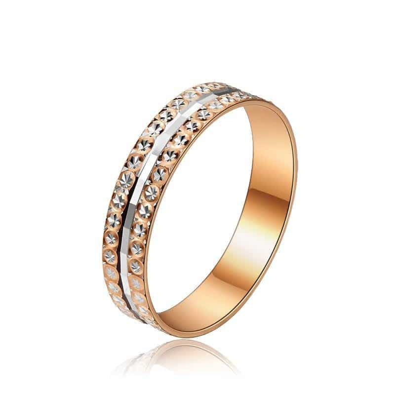 18K SOLID GOLD DUO BAND RING 2