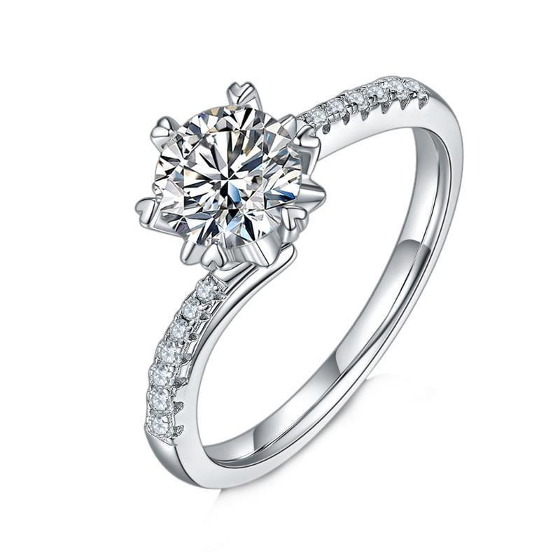 1CT VVS1 MOISSANITE WEDDING RING 1