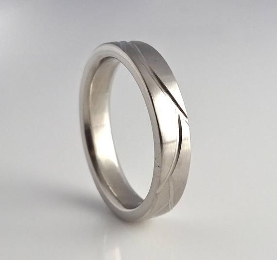 6mm Mens Wedding Band Recycled Sterling