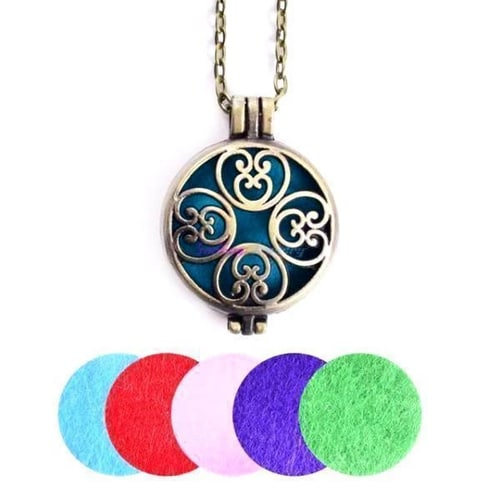 Antique Aroma Diffuser Necklace