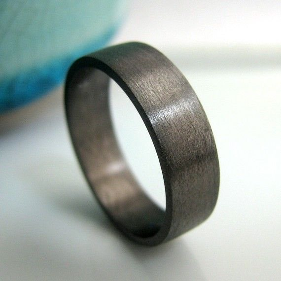 Black Gold Plated over 925 Sterling Silver Wedding Bands