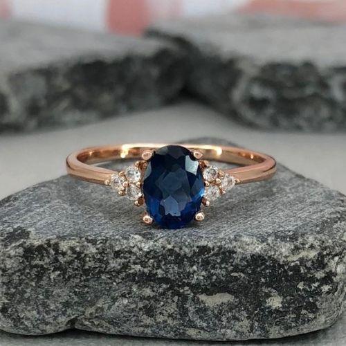 Blue Sapphire Engagement Rings For Women