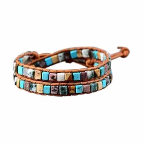 Bohemian Natural Stones Wrap Beaded Bracelets