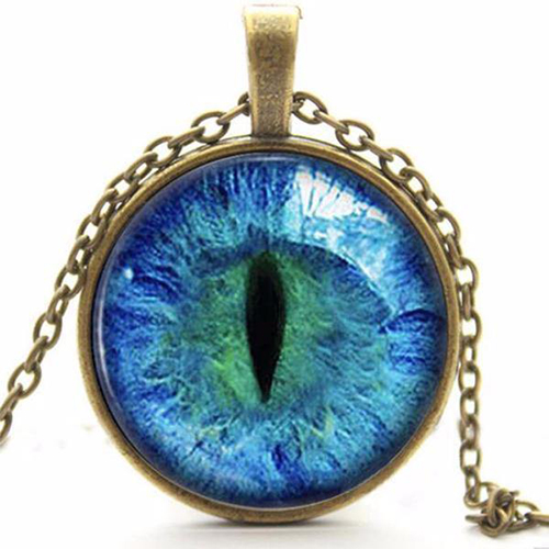 CAT EYE PENDANT CHAIN NECKLACE 8 OPTIONS