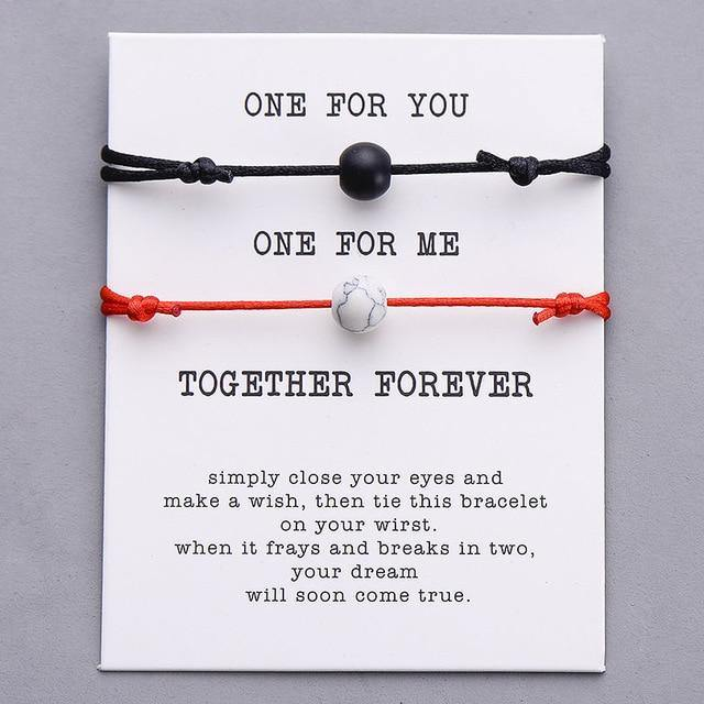 COUPLE LUCKY TOGETHER FOREVER WISH BRACELET SET