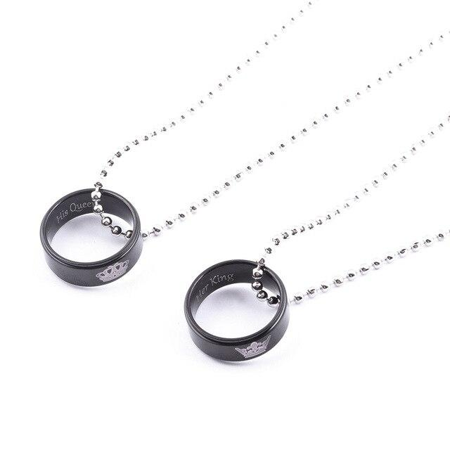 COUPLES ROYALTY RING NECKLACE SET