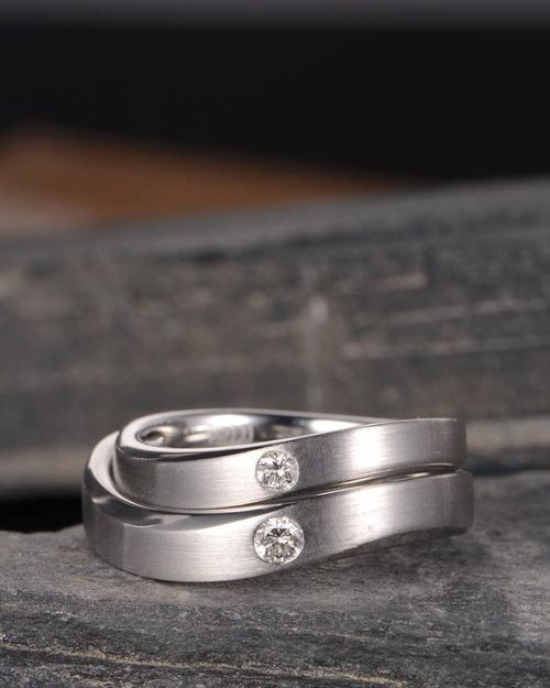 Couple Rings White Gold
