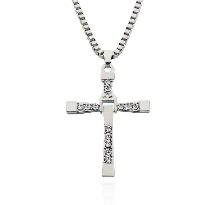 Dominic Toretto Cross Necklace Silver/Gold
