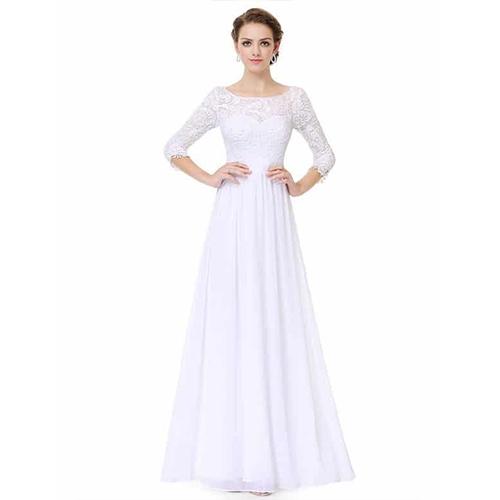 Ever Pretty Women's Long Sleeve Wedding Dress