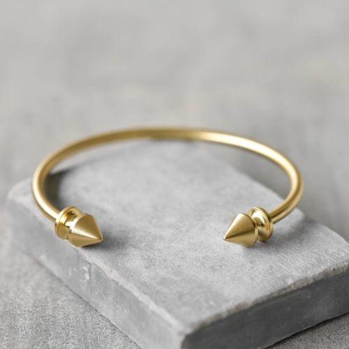 Gold Plated Bangle Bracelet For Men
