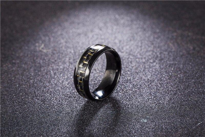 Gold Laced Carbon Fiber Ring
