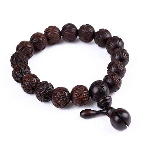Hand Carved Buddhist Prayer Bracelet