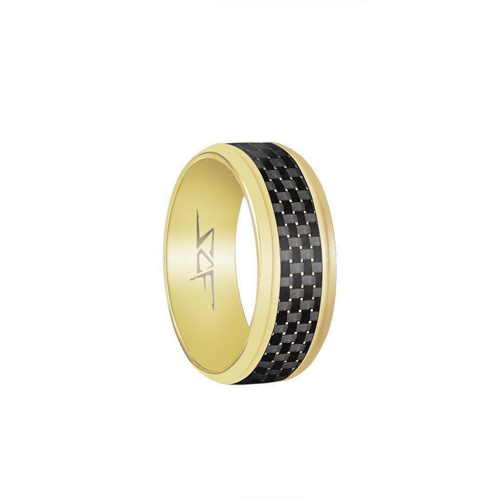 Gold Carbon Fiber Ring