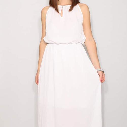 Long White Wedding Dress