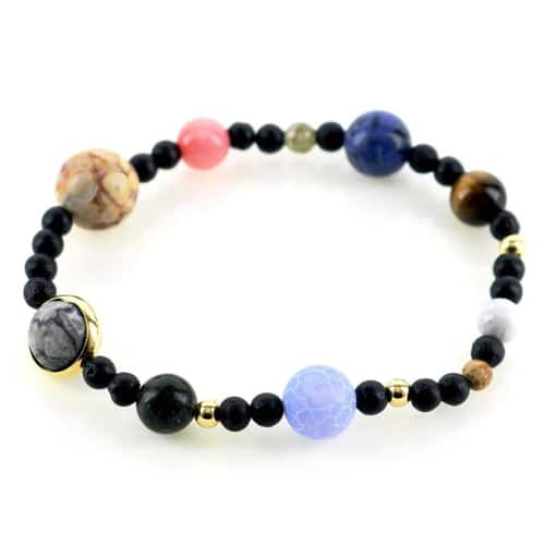 Natural Stone Milky Way Beaded Bracelet