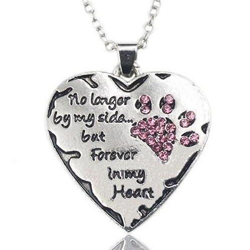 No Longer by my Side Hand Stamped Charm Necklace [3 variations]