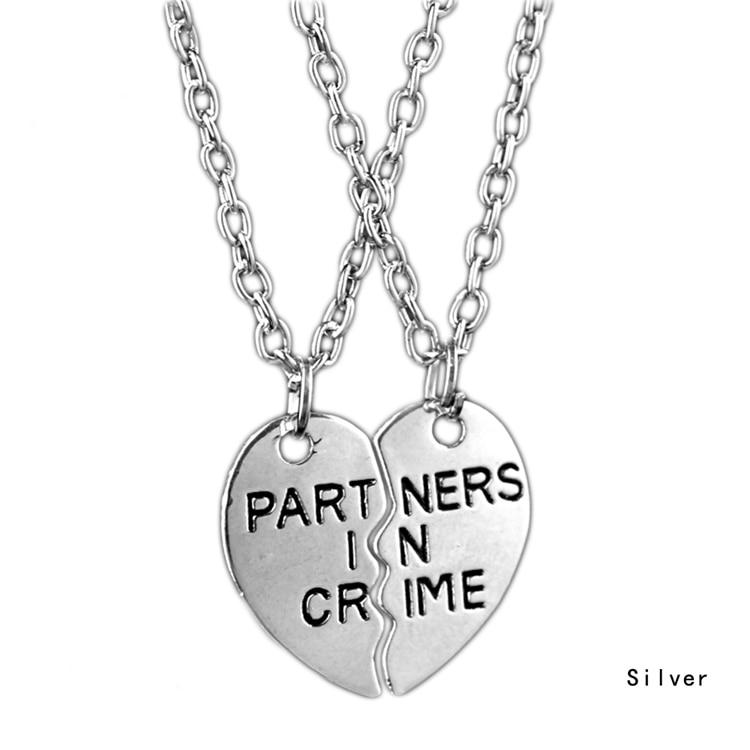 PARTNERS IN CRIME HALF HEART NECKLACE