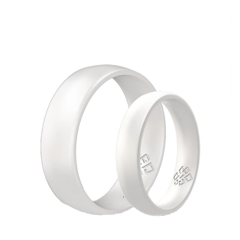 Pearl White Silicone Unisex Ring
