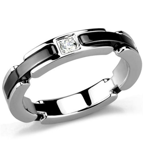 Polished Stainless Steel Ceramic Ring