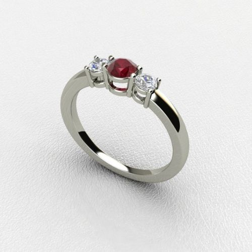 Real Ruby Ring