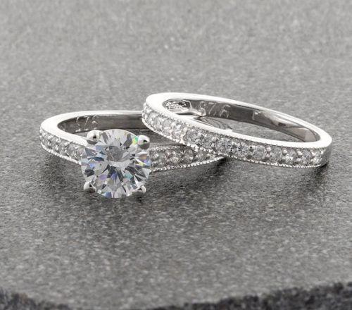 Silver Wedding Ring Sets