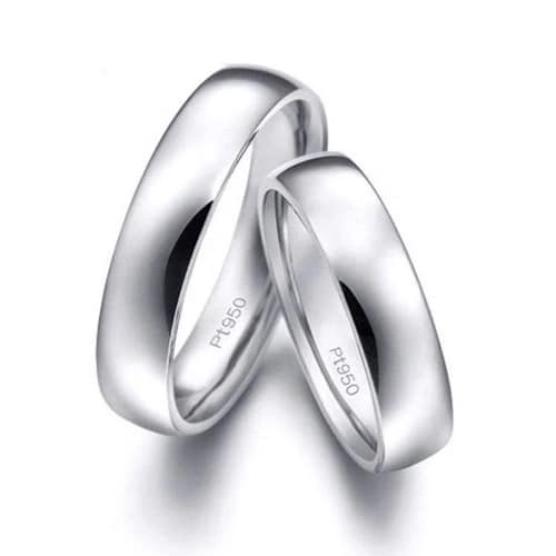Solid 950 Platinum Band Rings