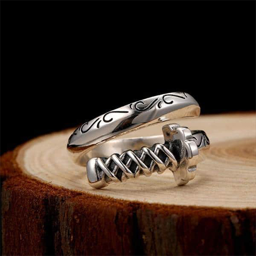 Sterling Silver Champion Warrior Ring
