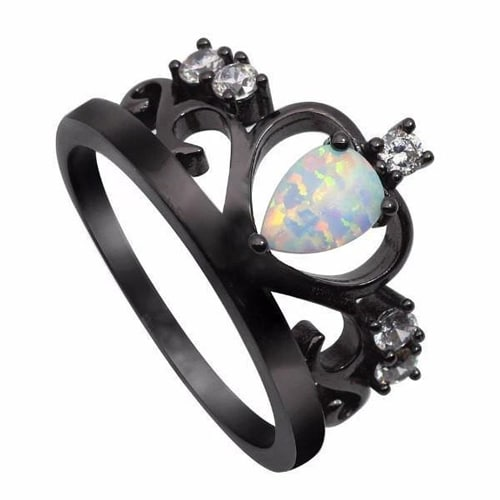 Stunning Fire Crown Opal Ring 3 Options