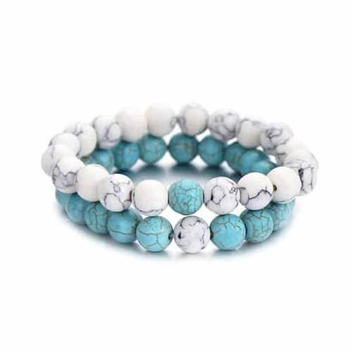 Summer Style Natural Stone Beads Couple Distance Bracelets