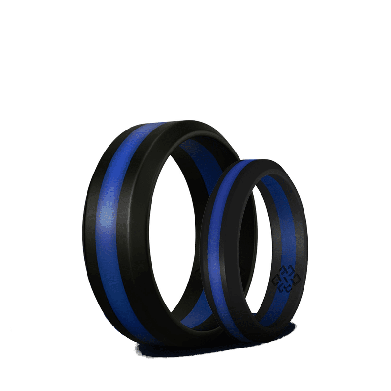THIN BLUE LINE SILICONE UNISEX RING