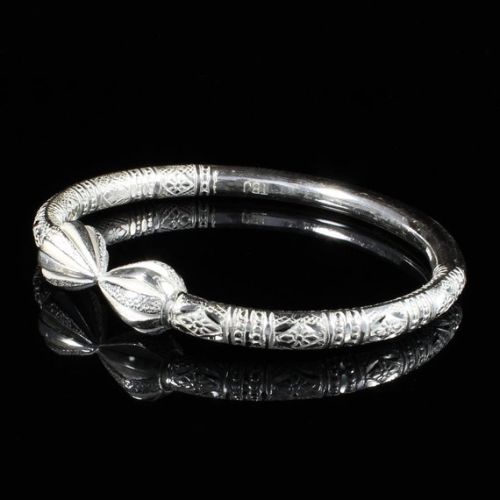 Thick Silver Bangles