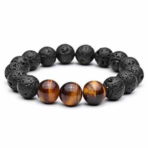 Tiger Eye Natural Lava Stone Beads Bracelets
