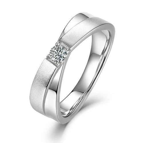 VVS1 Moissanite Sterling Silver Wedding Bands