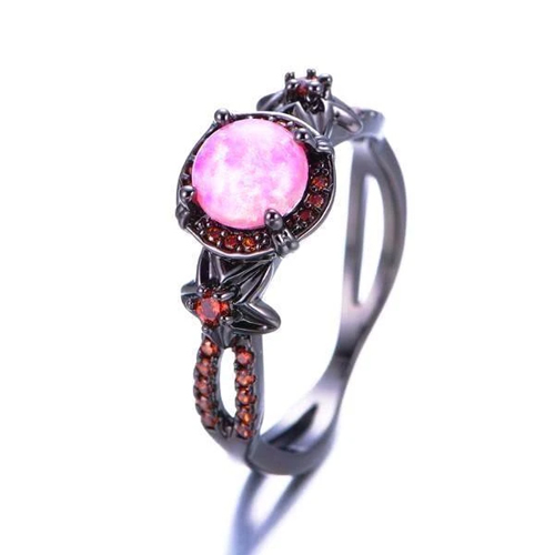 Vintage Pink Fire Opal Ring
