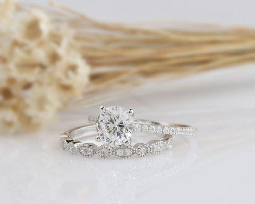 Wedding Diamond Ring Set