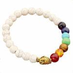 White Turquoise Healing Crystal Chakra Bracelet
