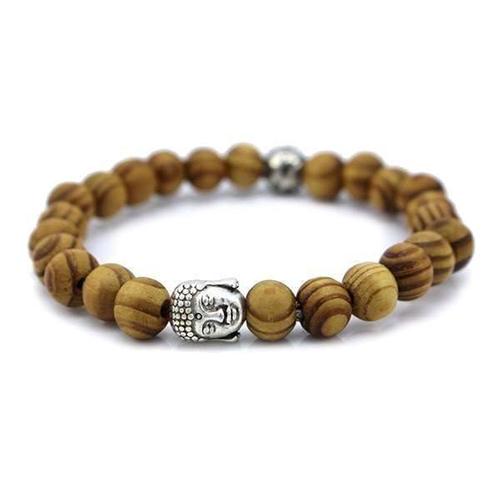Wood Beads Tibetan Buddha Prayer Bracelet