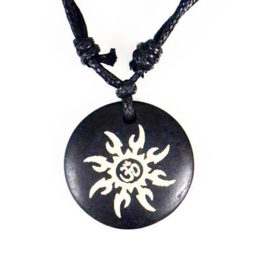 Yak Bone Amulet Pendant Necklace 1