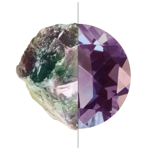 Raw Alexandrite Stone vs Alexandrite Ring Setting Stone