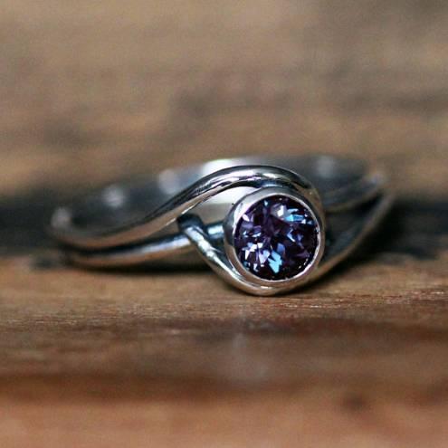 alexandrite rings earrings
