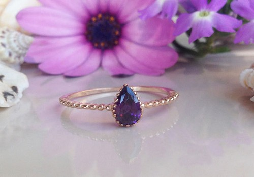 Amethyst Rings With Diamonds