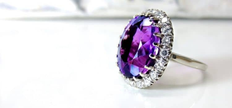 amethyst rings with natural ston