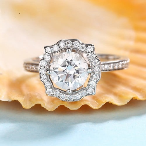 Amora Moissanite Engagement Rings