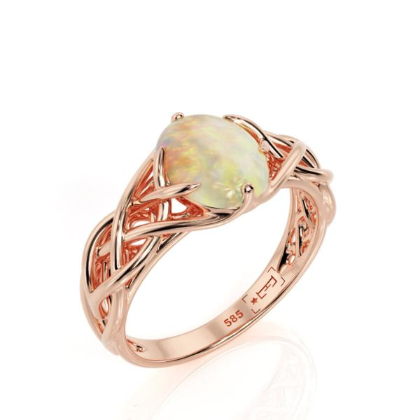 Antique Engagement Opal Ring