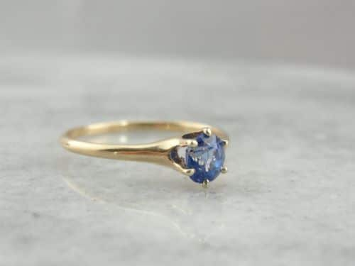 Antique Gold Engagement Rings Etsy