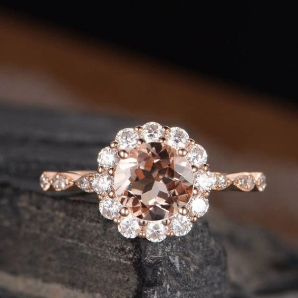 Antique Rose Gold Engagement Rings
